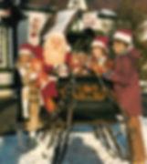 Santa Jim Yellig waving at Santa Claus Land Indiana.