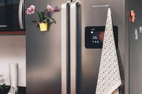 decoração ímã bandeira pano geladeira cozinha design de interiores linho artesanal