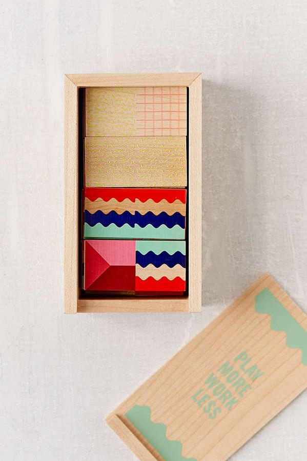 dominó madeira pinus pintado artesanal colorido