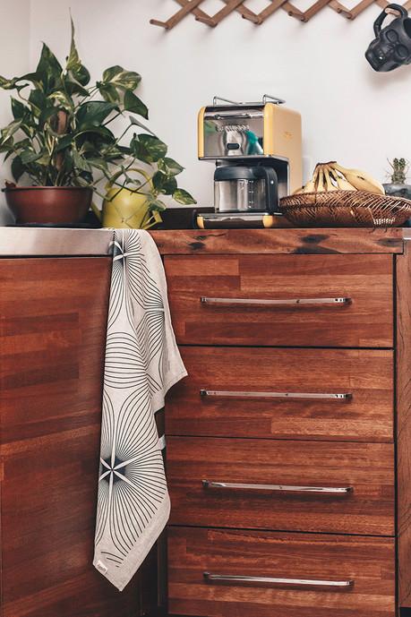 decoração ímã bandeira pano fogão cozinha design de interiores linho artesanal