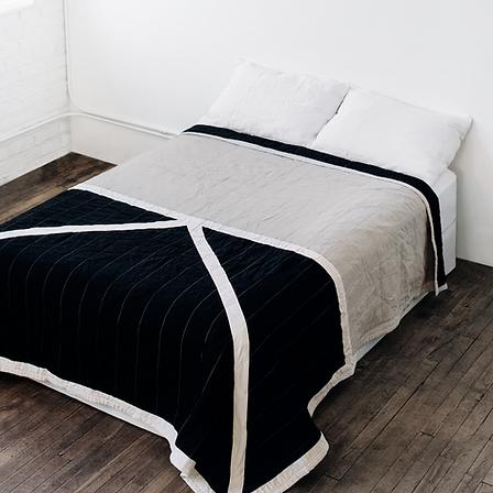 quilt contemporâneo arte têxtil cama quarto tecido artesanal decoração deesign interiores casa conforto