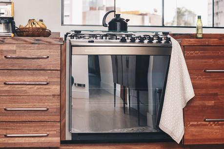 decoração poster bandeira pano fogão cozinha design de interiores linho artesanal