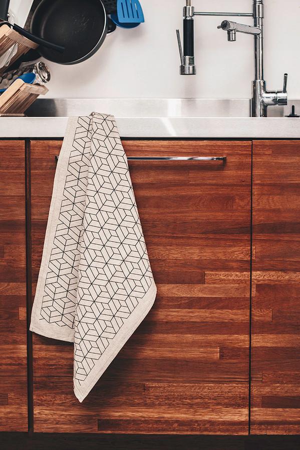 decoração ímã bandeira pano pia cozinha design de interiores linho artesanal