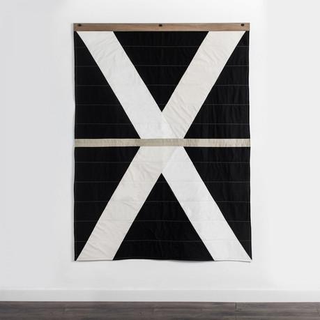 quilt contemporâneo arte têxtil tecido artesanal decoração design interiores casa conforto wall art parede