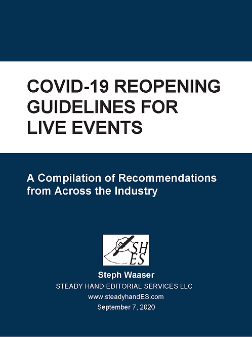 COVID-19 Reopening Guidelines for Live Events