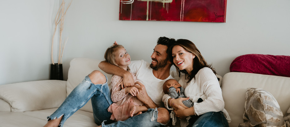 Družinsko fotografiranje na domu