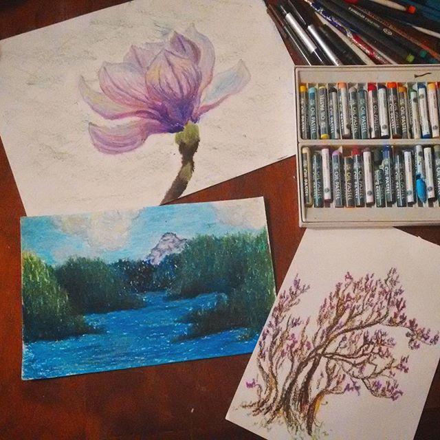 oil pastel studies