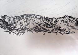 line study - mountains