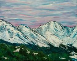 Mt Evans, acrylics, 2015