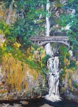 Multnomah Falls, acrylic, 2013
