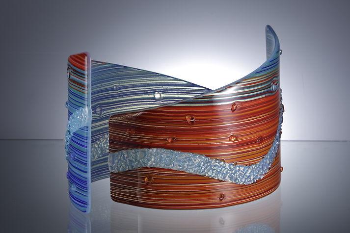 Chicanery - 3D freestanding glass 2 piece by Jill Bagnall.