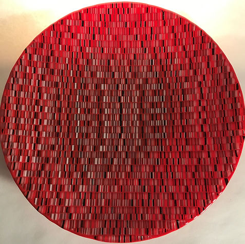 Arazzo Rosso - large glass dish by Jill Bagnall