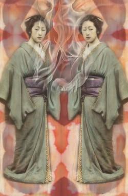 smoking geishas