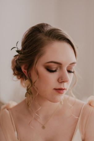 Photo: Eva Waltz | Makeup: Natasha Gendron | Hair: Areca Hollinsworth | Models: Angie Burger and Ryan Belik | Dress: Raw + Golden Rentals | Earrings: Allison Potts | Rings: Ashley Lynn Jewlry | Wedding Coordinator: Prudence + Sage