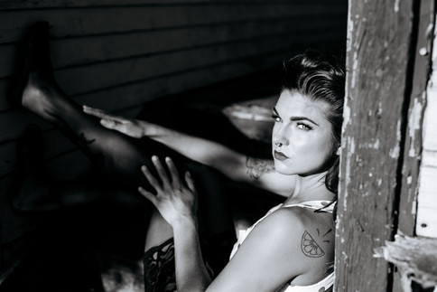 Photo: Kestrel Bailey | Makeup: Natasha Gendron | Hair: Areca Hollinsworth | Model: Crescent Lutra