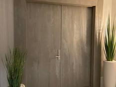 FAUX SUADE ENTRANCE DOORS