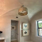 Powder Bath Walls and Ceiling