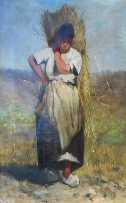 Meisje met korenaren