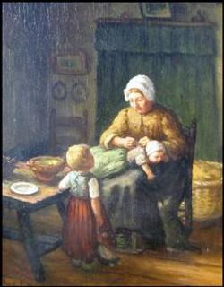 Aankleden met moeder