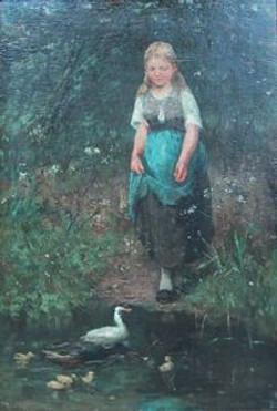 Meisje met eenden