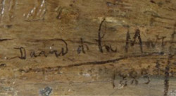 Handtekening van David