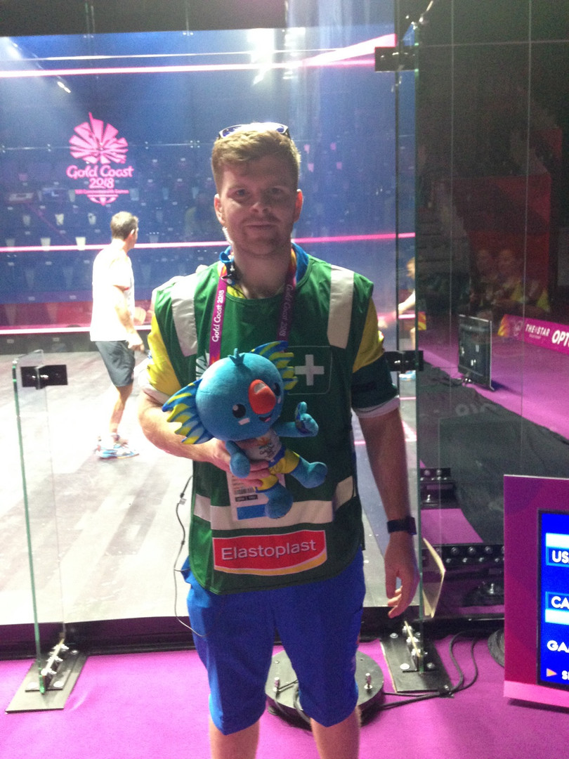 andrew smythe sports physio at the 2018 Gold Coast Commonwealth Games. Andrew is a knowledgeable and experienced physiotherapist that will help treat your pain, injury and get you better, quicker