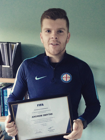 Andrew Smythe, sports physiotherapist, Melbourne City FC, FIFA Diploma of football medicine