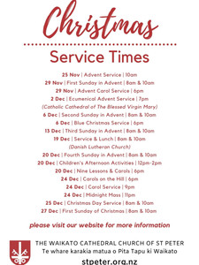 Christmas 2020 - Service Times