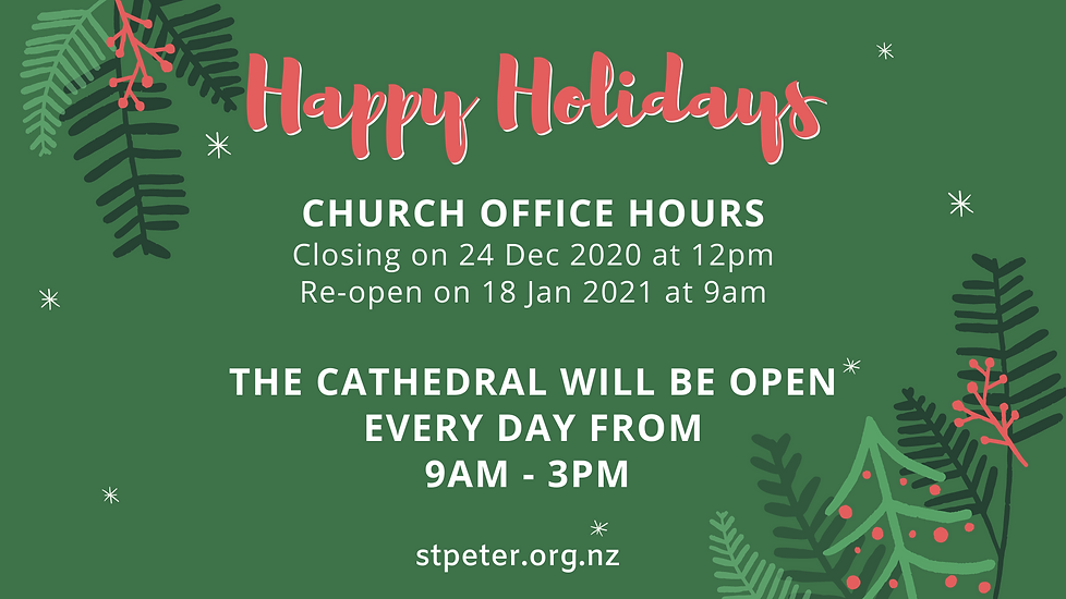 THE WAIKATO CATHEDRAL CHURCH OF ST PETER