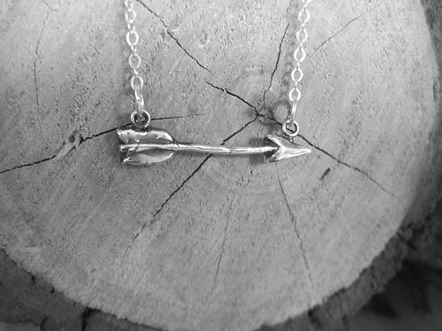 Arrow Necklace in sterling silver PMC Metal Clay