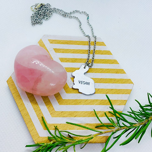 Mini Vegan Rabbit Necklace