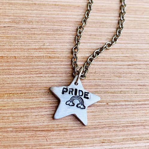 Pride Rainbow Star Necklace