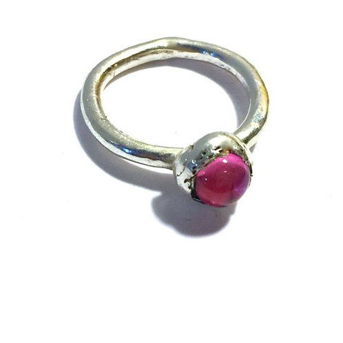 Pink (or Blue) Sapphire (Lab Grown,Conflict Free) Ring
