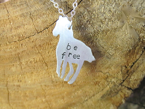 Be Free Horse Necklace