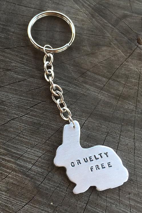 Cruelty Free Rabbit Keychain