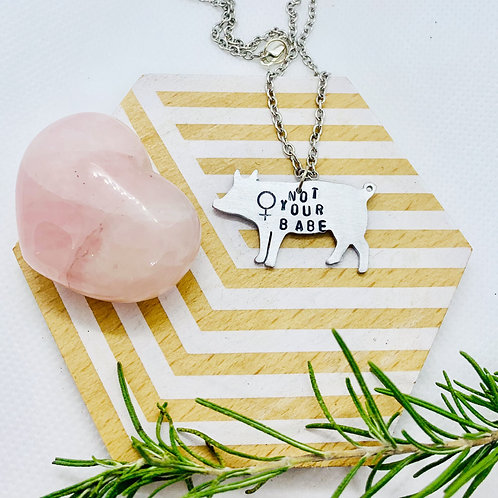 Not Your Babe Pig Necklace
