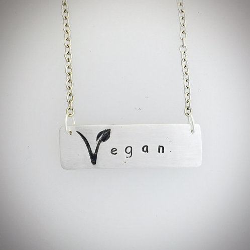 Vegan V Symbol Necklace