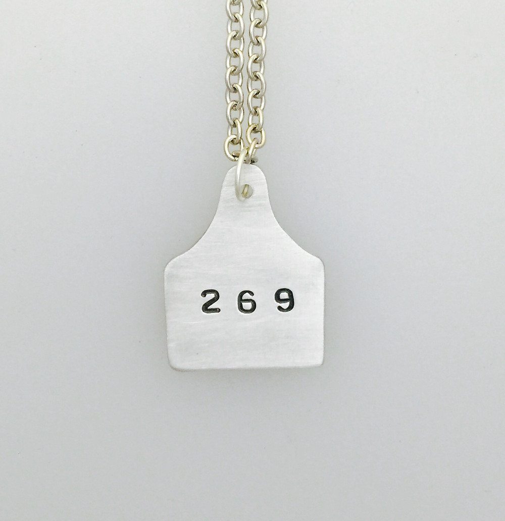 269 Ear Tag Necklace