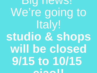 Big News! We're going to Italy! Ciao!