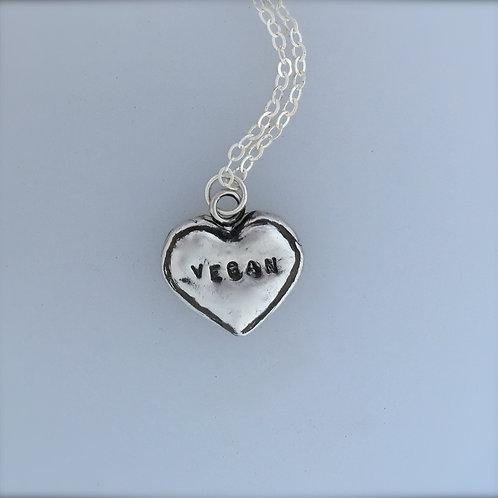 Vegan Baker Heart Cookie Necklace