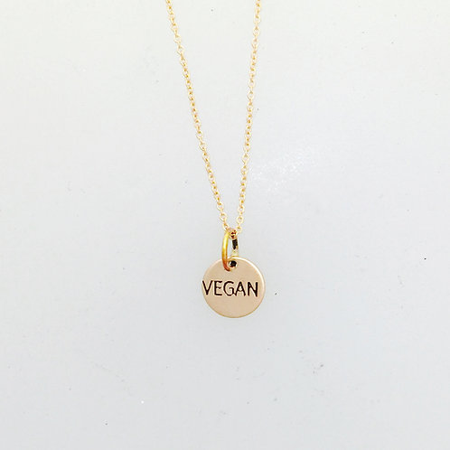 Tiny Vegan Rose Gold Filled Circle Necklace