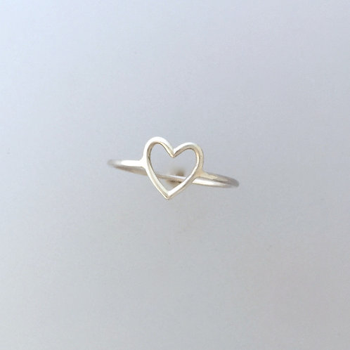Compassionate Heart Wire Ring