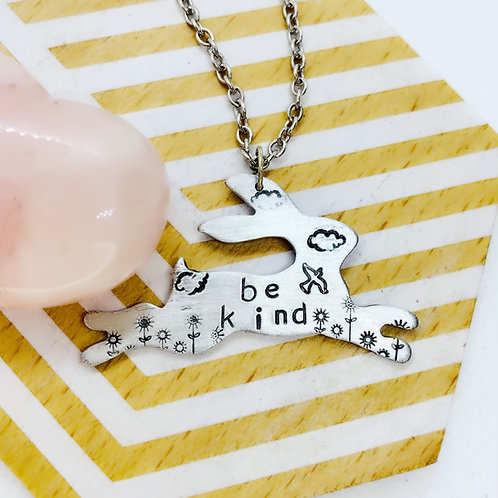 Be Kind Rabbit Necklace