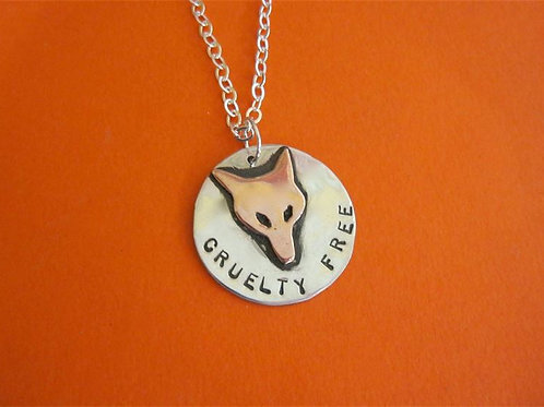 Cruelty Free Fox Copper & Recycled Sterling Silver Necklace