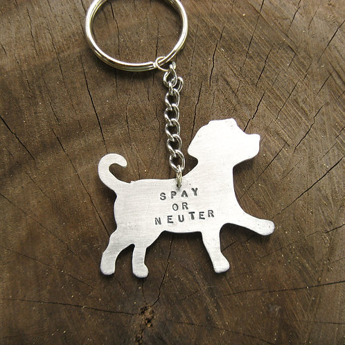 Spay or Neuter Dog Keychain