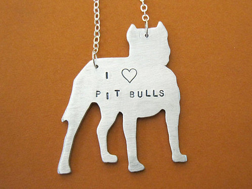I heart Pit Bulls Necklace