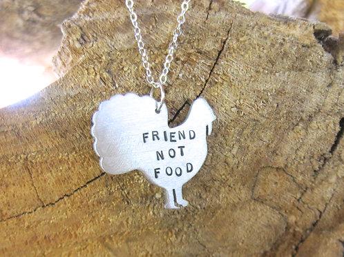 Friend not Food Turkey Necklace