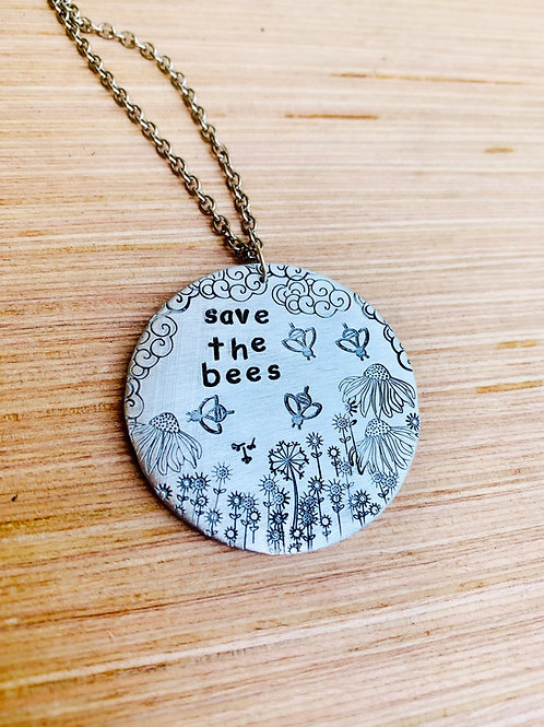 Save the Bees Floral Necklace