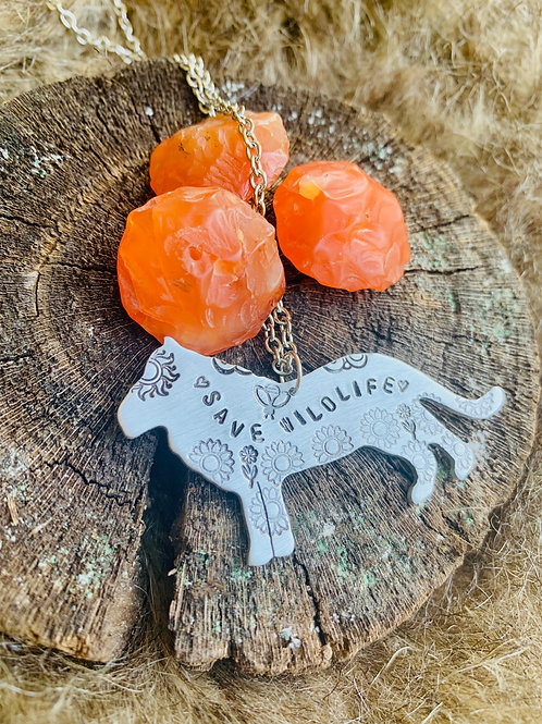 Save Wildlife Lion Necklace