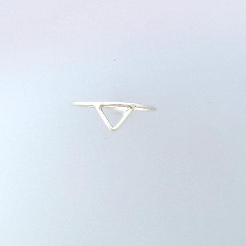 Geometric Triangle Wire Ring